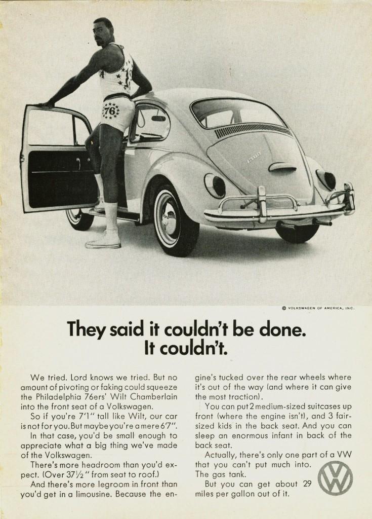 wilt chamberlain vintage vw beetle ad holy grailz