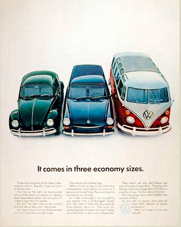 Original Volkswagen Ad from the 60's