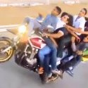 INSANE 10 Person Motorcycle Wheelie